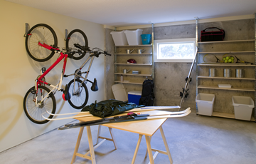 Critter free organized storage area.